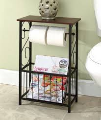 Toilet Roll Holder Magazine Rack Scrolled Bathroom Storage Table Toilet Paper Holder Magazine Rack 21