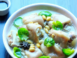 pig s trotter and soybean soup soy