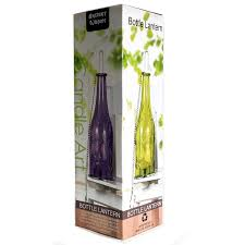 recycled hanging amber glass bottle tea light candle holder boluz 02
