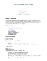 Sample Resume Fresh Graduate Accounting Student Gallery