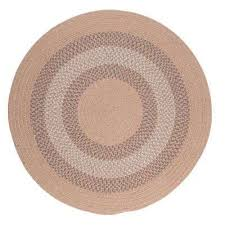 chancery oatmeal 10 ft x 10 ft round braided area rug