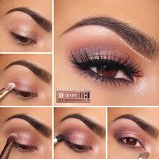 diy makeup tutorials rosy smokey eyes