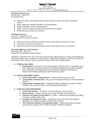 Plumber Pipe Fitter Gas Fitter Resume