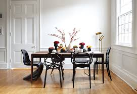 glossy black dining room chairs also nice table