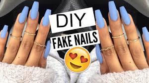 Design Your Own Fake Nails Diy 5 Min Fake Nails At Home No Acrylic Kellie Sweet