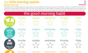 Kids Daily Routine Chart Free Printable Kids Morning Routine Chart Buttoned Up