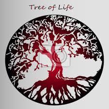 Fototapeta červený Samolepka Strom života Krásná Představa Tetování