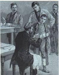 louis pasteur rabies vaccine louis s pupil emile roux inoculating a boy against rabies at the pasteur institue