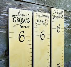 Wooden Growth Chart For Girls Growth Chart Art Hanging Wooden Height Growth Chart To