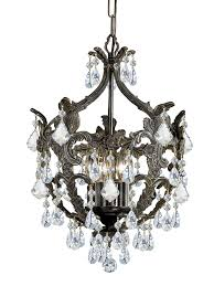 crystorama legacy 5 light clear crystal bronze mini chandelier