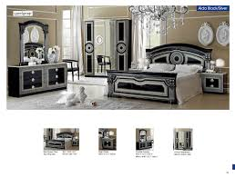 black and silver bedroom furniture. Bedroom Furniture Classic Bedrooms Aida Black W/Silver, Camelgroup Italy And Silver O