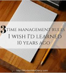 3 Time Management Rules I Wish I D Learned 10 Years Ago Time