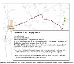 My Dream Chart Directions To The Langley Ranch My Dream Quest For The