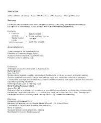 Investment Banking Resume Format Administrativelawjudge Info