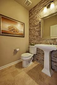 powder room wall tile designs. stone accent wall in the bathroom adds class and needs minimal decorations get look with powder room tile designs