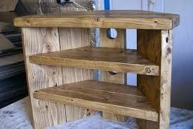 corner tv stand diy corner unit furniture recent rustic stand solid wood cabinet plank sleeper oiled corner tv stand diy