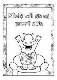 Kleurplaat Niels Wil Graag Groot Zijn Crafts Coloring Colorful