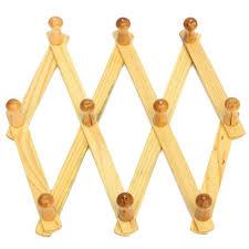wood wall peg expandable solid wooden coat hanger peg keys hat towel clothes robe rack hat closet wall wood peg wall coat rack