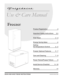 Frigidaire Freezer Warning Lights Frigidaire Ffu17f5hw Use And Care Manual Manualzz Com