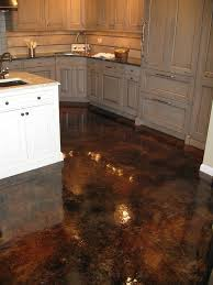 acid stained concrete flooring with gloss finish soo easy to clean goes with hardwood floors