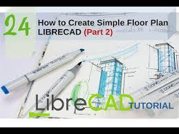 create simple floor plan librecad part