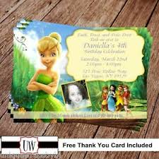 Tinkerbell Invitations Printable Details About Tinkerbell Fairies Birthday Invitation Disney Party Printable Invitations