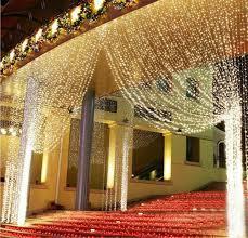 romantic 1 5mx1 5m led light tree wedding party fairy string light wall window decor net mesh light curtain eu us plug string lights