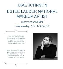 jake johnson estee lauder national makeup artist at macy s