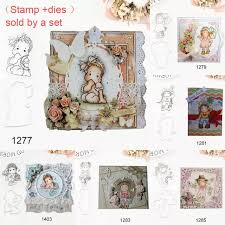 <b>Little Girl's Carbon Steel</b> Cutter Mold Embossing Die Stamp Seal Set ...