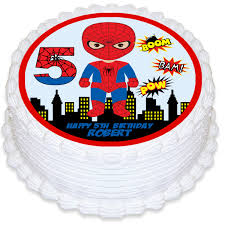 Spiderman Round Edible Cake Topper Deezee Designs