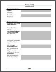 Training Request Form. Training Form For Employees Training Form For ...