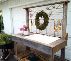 pretty garden work table decorating potting bench home
