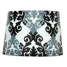 style selections 9 in x 13 in black and white fabric drum lamp shade