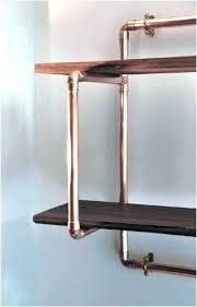 copper floating shelves copper shelf brackets copper floating wall shelves plumbing pipe shelf ideas fabulous piping