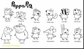 Splendi Peppa Pig Coloring Pagesnline Picture Inspirations Sheet