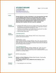 Resume Templates For No Work Experience Cool Resume Templates For College Students With No Work Experience