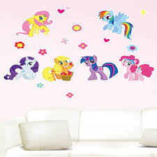 2016 new wall sticker home decor diy my little pony wall decal 6