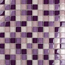 glass mosaic tile with purple pink and white crystal backsplash for kitchen and bathroom and accent
