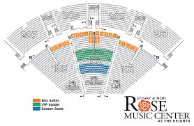 Season Ticket Seating Map Rose Music Center At The Heights