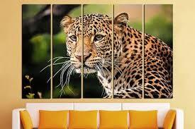 leopard wall art leopard poster leopard