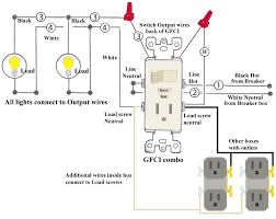 how to install and troubleshoot gfci wiring a light switch and outlet together diagram at Combination Switch Wiring Diagram