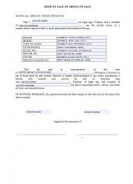 As Is Document For Car Sale Deed Of Sale Sample For Cars Philippines Automart Ph Blog