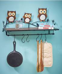 Wonderful Kitchen Decorations For Walls Owl Wall Shelf Paper Towel Holder Inside Decorating Ideas