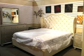 King Bedroom Furniture Mcferran White Rhinestone Eastern King Bedroom Set Colleens