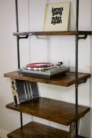 furniture turntable stand. industrial record shelving unit bookcase modern turntable storage shelf furniture stand o
