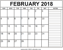 calendars with notes february 2018 calendar notes oyle kalakaari co