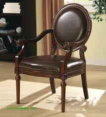accent chair roll arm bi cast leather free throughout chairs nailhead canada