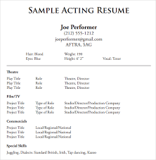 Resume Samples Pdf Classy 60 Acting Resume Samples Examples Templates Sample Templates