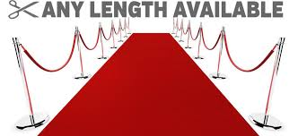 hollywood red carpet outdoor runner rug durable non slip extra long event mat uk