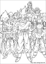 Small Picture Dragon Ball Z Printable Coloring Pages Cartoon Cool Pictures